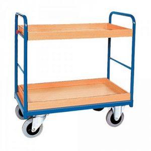 Etagenwagen mit 2 Tabletts, Tragkraft 250 kg, LxBxH 910 x 500 x 950 mm