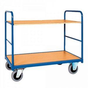 Etagenwagen mit 2 Böden, Tragkraft 250 kg, Stahlrohrahmen, LxBxH 910 x 500 x 950 mm