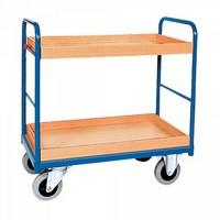 Etagenwagen mit 2 Tabletts, Tragkraft 250 kg, LxBxH 1060 x 600 x 950 mm
