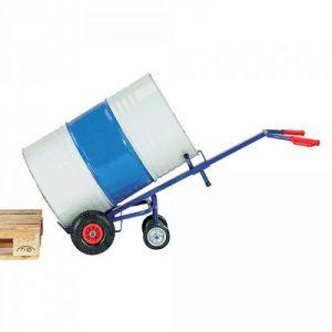 Fasskarre mit Luftbereifung, Tragkraft 250 kg, für 200 Liter Fässer