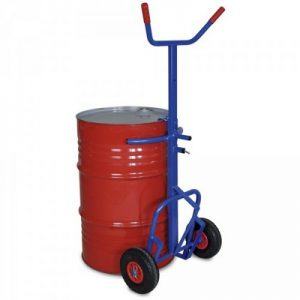 Fasskarre mit pannensicheren Rädern, für 200-Liter-Sicken- und Rollreifen-Stahlfässer, Tragkraft 250 kg