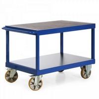 Modularer Schwerlast Tischwagen, Tragkraft 2.200 kg, 2 Ladeflächen - LxBxH 2190 x 800 x 900 mm