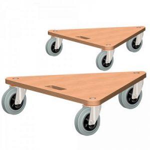 Möbelhund®, Dreieckform, Möbelroller mit Tragkraft 200 kg / 2 Stück