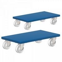 Möbelhund®, Möbelroller mit Tragkraft 500 kg, LxBxH 600 x 350 x 145 mm / 2 Stück