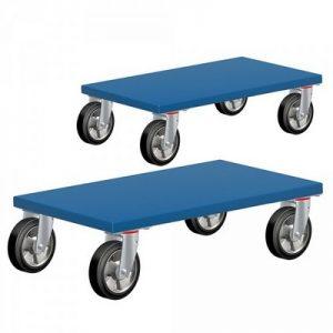 Möbelhund®, Möbelroller mit Tragkraft 500 kg, LxBxH 600 x 350 x 145 mm, Elastik-Gummiräder  / 2 Stück