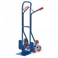 Treppenkarre mit Vollgummibereifung, Stahlrohr kunststoffbeschichtet, Tragkraft 150 kg, für Stufenhöhen bis 190 mm