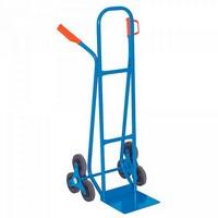 Treppenkarre, Stahlrohr blau, kunststoffbeschichtet, Tragkraft 175 kg