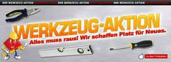Werkzeug Aktion bei BRB Lagertechnik: alles muss raus!