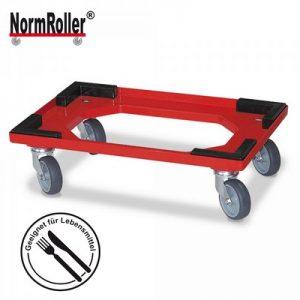 Logistikroller mit Stapelecken für Drehstapelbehälter