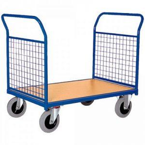 Zweiwandwagen / Magazinwagen mit Gitterwänden LxBxH 1030 x 500 x 950 mm, Tragkraft 400 kg