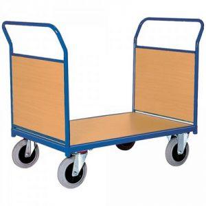 Magazinwagen mit 2 Stirnwänden aus Holzwerkstoffplatte, LxBxH 1030 x 500 x 950 mm, Tragkraft 400 kg
