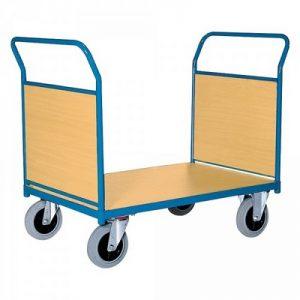 Magazinwagen mit 2 Stirnwänden aus Holzwerkstoffplatte, LxBxH 1380 x 800 x 990 mm, Tragkraft 500 kg