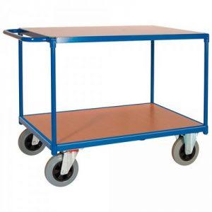 Magazinwagen, 2 Etagen / Ladeflächen aus Holzwerkstoffplatte, LxBxH 1390 x 800 x 905 mm, Tragkraft 500 kg