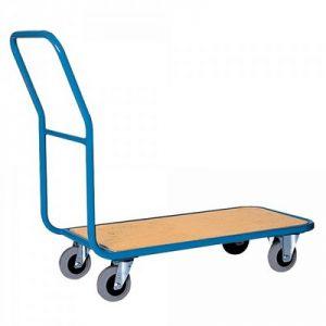 Magazinwagen, Tragkraft 200 kg, Stahlrohrrahmen, Ladefläche Holzwerkstoffplatte, LxBxH 1100 x 450 x 900 mm