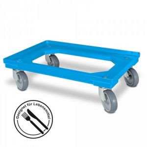 Roller für Eurobehälter, Tragkraft 300 kg, ABS Kunststoff, blau