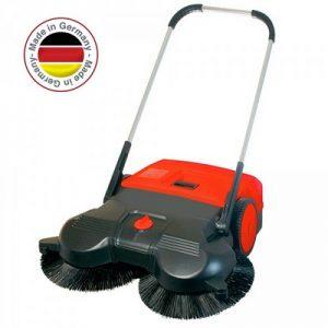 Handkehrmaschine, Kehrbreite 970 mm, Vol. 50 Liter, Kehrleistung ca. 3600 m²/h