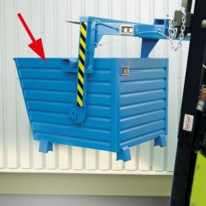 Kippmulde für Stapler, LxBxH 1000 x 800 x 900 mm, Volumen: 0,55 m³, Tragkraft: 1000 kg
