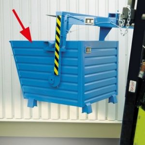 Kippmulde für Stapler, LxBxH 800 x 600 x 600 mm, Volumen: 0,30 m³, Tragkraft: 500 kg