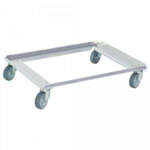Logistikroller aus Aluminium, offene Deckfläche, Ladefläche 800 x 600 mm